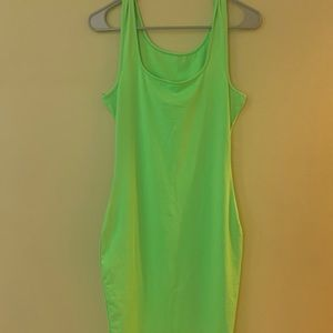 Slime green body con dress
